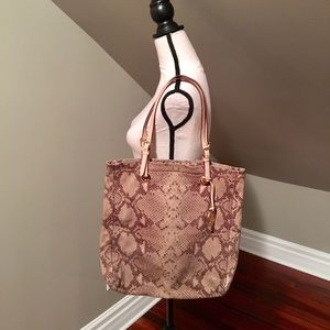Snakeskin pattern Michael Kors shoulder bag